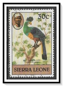 Sierra Leone #471a Blue Plantain Eater Used