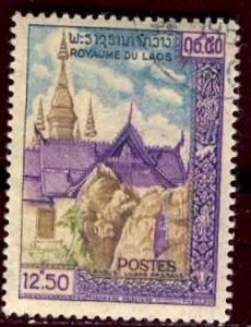 Laos; 1959: Sc. # 65: O/Used CTO Single Stamp