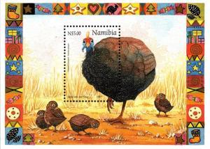 Namibia - 1997 Christmas Guineafowl MS MNH** SG MS748