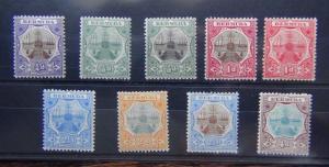 Bermuda 1906 - 1910 set to 4d Fine Mint SG34 - SG42