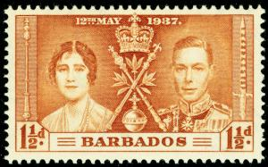 BARBADOS SG246, 1½d yellow-brown, NH MINT.