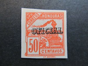 A4P11F14 Honduras Official Stamp 1898-99 50c mint no gum old forgery