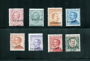 ITALIAN 1923  OCCUPATION OF SASENO  SCOTT#1/8  MINT NH