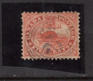 Canada #15 Used With Ideal 4 Ring 26 Cancel