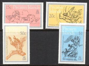 Pitcairn Islands Sc 217-20 1982 Christmas stamp set mint NH