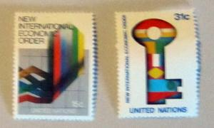 UN, NY - 178-79, MNH Set. Int. Economic Order. SCV - $0.70