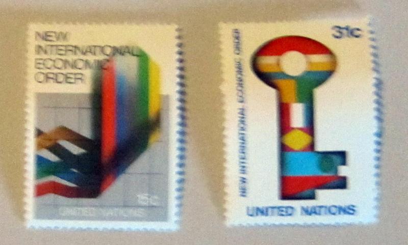 UN, NY - 178-79, MNH Set. Int. Economic Order. SCV - $0.70