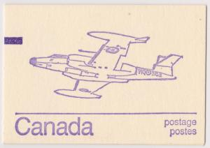 Canada - Caricature Issue Booklet w. Counter CF100 #BK76a Cat. $5.
