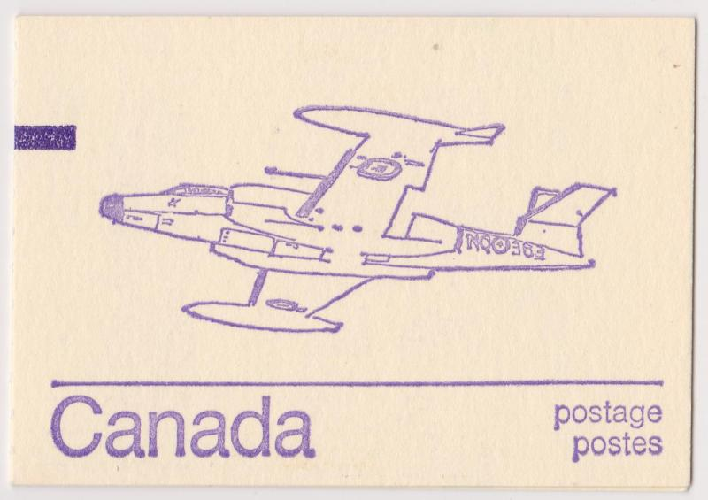 Canada - Caricature Issue Booklet w. Counter CF100 #BK76c Scarce Repeating 10's