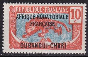 1925 Ubangi-Shari Scott   46 Stamp of Middle Congo Overprint MLH
