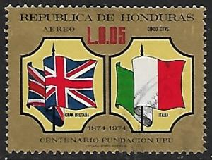 Honduras # C566 - Flags Great Britain & Italy - used   -{BR9}