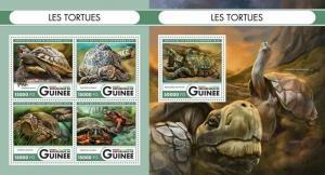 Guinea 2016 turtles marine life  klb+s/s MNH