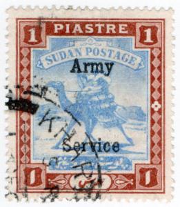 (I.B) Sudan Postal : Army Service 1pi