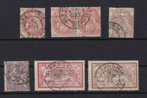 ALEXANDRIA 1902 STAMPS , BLANC MOUCHON AND MERSON TYPES , GOOD CANCELS  REF 6429
