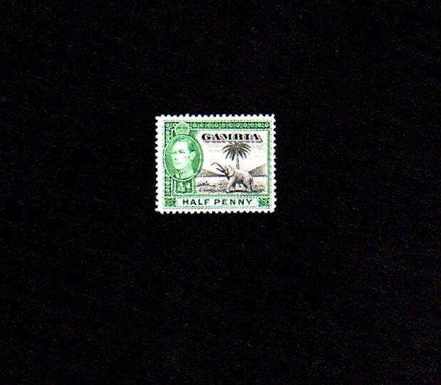 GAMBIA - 1944 - KG VI - ELEPHANT - BADGE OF GAMBIA - # 132  MINT - MNH - SINGLE!