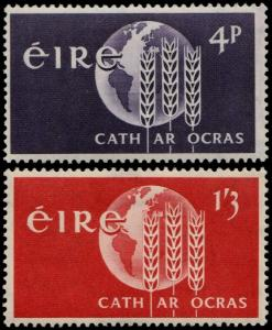 ✔️ IRELAND 1963 - FREEDOM FROM HUNGER - SC. 186/187 MNH OG [IR0150]