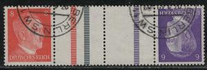 Germany Scott # 511, 510, 2 labels, used, tete beche, Mi # KZ40
