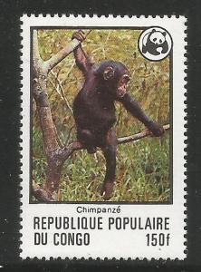 CONGO 456  MNH,  CHIMPANZEE