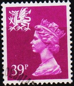 Great Britain. 1991 39p(Wales) S.G.W69 Fine Used