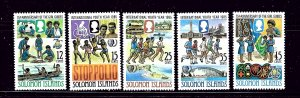Solomon Is 551-55 MNH 1985 Girl Guides and Youth Year