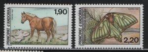 ANDORRA, 355-356, MNH, 1987, NATURE