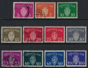 Norway #O33-7,8A,9A-41A,3  CV $4.55