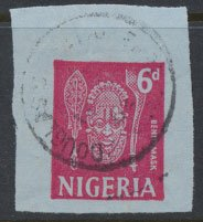 Nigeria  Airmail letter value  Benin Mask   please see scan