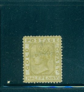 Gold Coast - Sc# 4. 1876 1/2p Victoria. Used. $42.50.