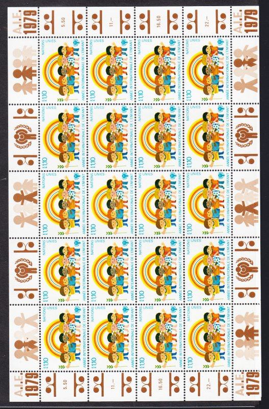 UN IYC sheets of 20 + Scarce #29 Inscription block Free!