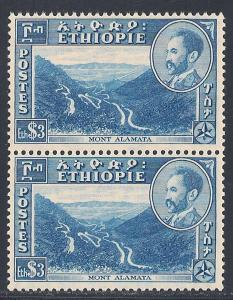 Ethiopia #295 VF MNH PAIR - 1947 $3 Mt. Alamata - Emperor