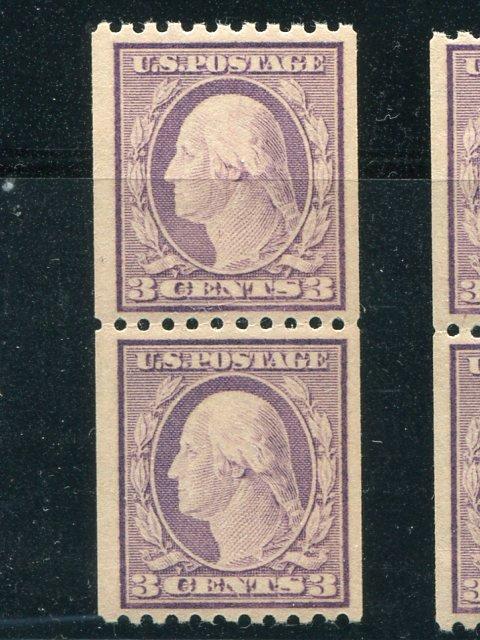 USA  #489  Mint VF NH pair  -  Lakeshore Philatelics