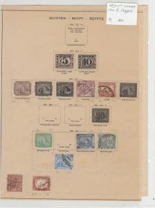 Egypt Stamps on 2 Pages Ref: R7265