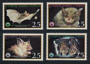 Cyprus WWF Mediterranean Horseshoe Bat 4v SG#1053-1056