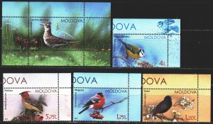 Moldova. 2015. 923-26, bl70. Birds of Moldova. MNH.