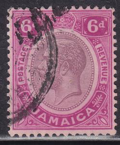 Jamaica 102 USED 1921 King George V 6d
