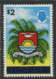 Tuvalu - Scott 15 - Gilbert & Ellice Overprint -1976 - MVLH - Single $2.00 Stamp