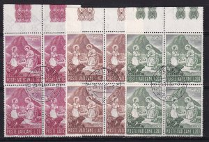 1965 - VATICAN - Scott #420-422 - First Day Cancels - Block Used