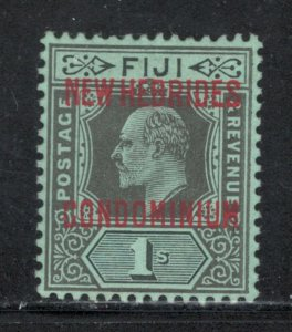 British New Hebrides 1910 Overprint 1sh Scott # 16 MH