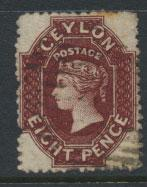 Ceylon  SG 68ax Used perf 12½ wmk reveresed Crown CC 21½