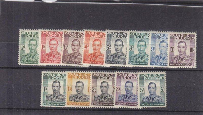 Southern Rhodesia: Sc #42-54, MNH (34491)