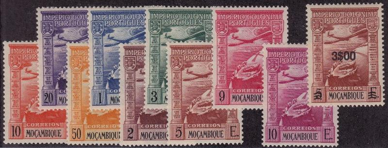 MOZAMBIQUE MLH Scott # C1-C10 - C3 small thin (10 Stamps)