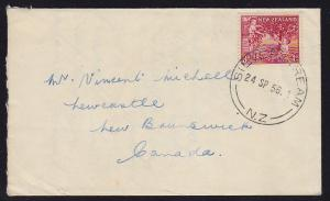 New Zealand - 1956 - Scott #B51 - private FDC