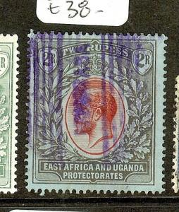 EAST AFRICA AND UGANDA  (P2205B)  KGV 2R SG54  MOMBASA PARCEL CANCEL VFU