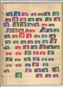 GERMANY COLLECTION ON STOCK SHEETS, MINT/USED