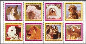 Equatorial Guinea Dogs Sheet of 8 MNH