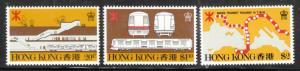 Hong Kong 1979 Sc 358-60 MTR Subway MNH