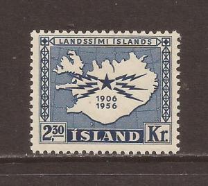 Iceland scott #297 m/nh stock #37531