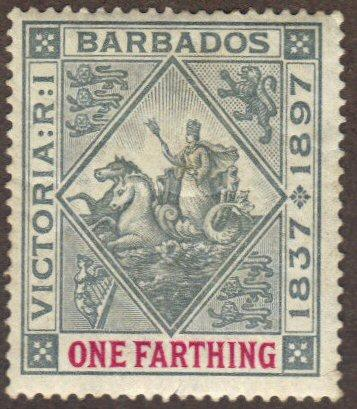 Barbados #81 MH colony seal