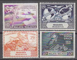 Malaya Malacca 1949 Sc 18-21 UPU MLH