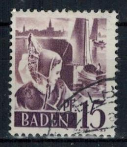 Germany - French Occupation - Baden - Scott 5N5